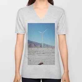Palm Springs Windmills III Unisex V-Neck