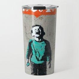 Banksy, social life, likes Travel Mug