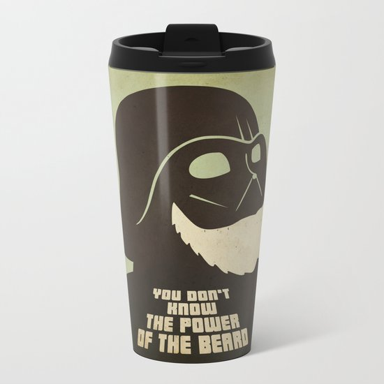 Beard Vader Metal Travel Mug