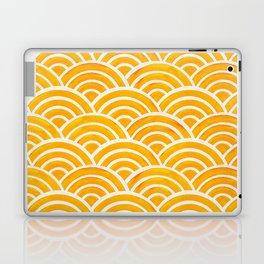 Japanese Seigaiha Wave – Marigold Palette Laptop & iPad Skin