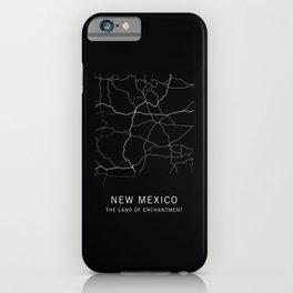 New Mexico State Road Map iPhone Case