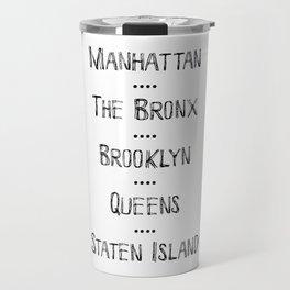 New York City Boroughs Travel Mug