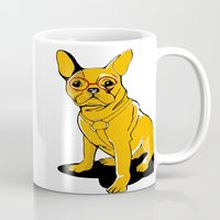 frenchie Mugs featuring Frenchie by andiroses