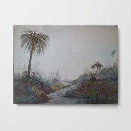 Palms in a Garden Metal Print