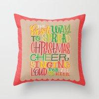 elf Throw Pillows featuring Elf by Jillian Kaye