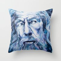 courage Throw Pillows featuring Courage by Maria Bruggeman