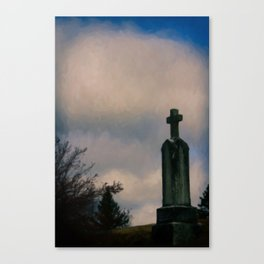 Grave on the Hill Canvas Print