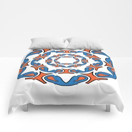 abstract mandala tribal Comforters