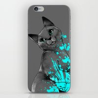 russian iPhone & iPod Skins featuring Russian Blue by Anwar Rafiee