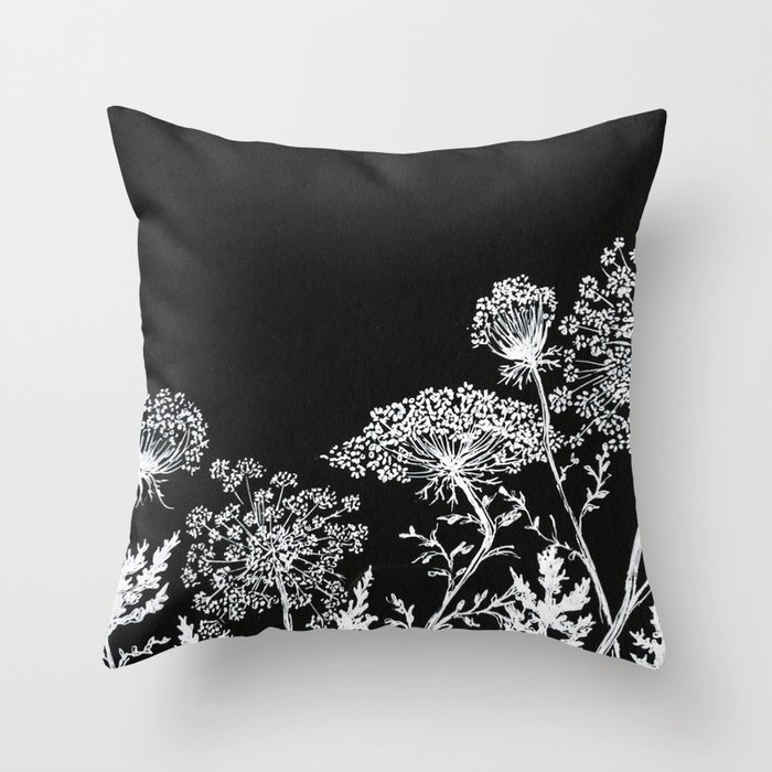 Queen Throw Pillow : queen anne s lace Throw Pillow by alisaburke Society6