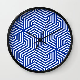 International Klein Blue - blue - Minimal Vector Seamless Pattern Wall Clock