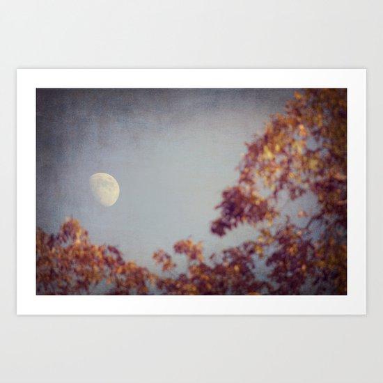 October Moon Art Print