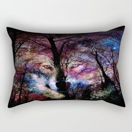 wolf in the forest Rectangular Pillow
