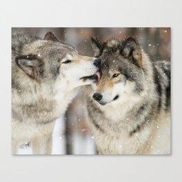 Wolf Kisses Canvas Print