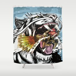 Ino Battles Byakko Shower Curtain