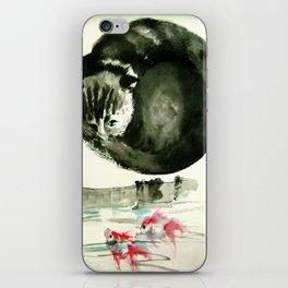 cunning cat iPhone Skin