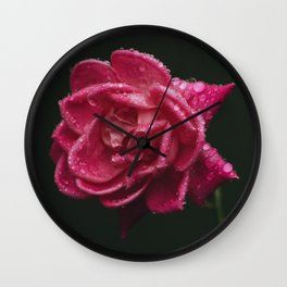Red Knockout Wall Clock