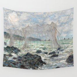 1882-Claude Monet-Fishing nets at Pourville-86 x 106 Wall Tapestry