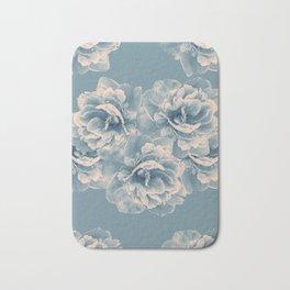 Blush Blue Peony Flower Bouquet #1 #floral #decor #art #society6 Bath Mat