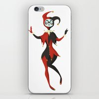 harley quinn iPhone & iPod Skins featuring Harley Quinn by taryndraws