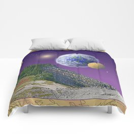 """NO WORLD IS """"ALIEN"""" Comforters"""
