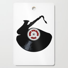 New Orleans Jazz Music Silhouette Record Cutting Board