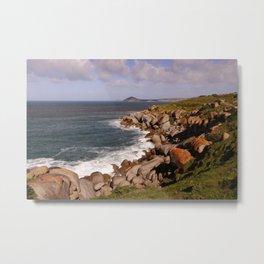 Rocky Island Coastline Metal Print