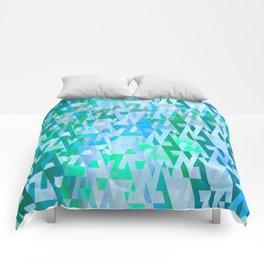 Energy Field (green-blue) Comforters