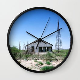 Somewhere on the Old Pecos Highway #4 Wall Clock