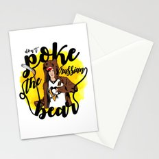 Don't Poke the Russian Bear Stationery Cards
