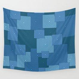 Blue Platformer Wall Tapestry