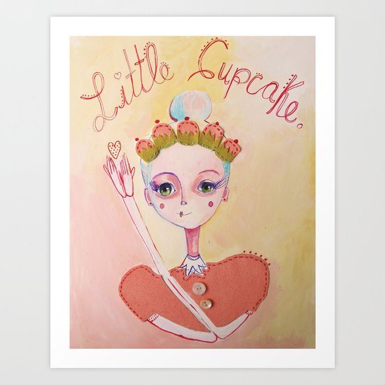 The Littlest Cupcake  Art Print
