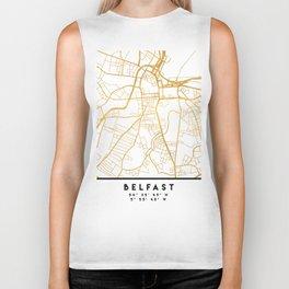 BELFAST UNITED KINGDOM CITY STREET MAP ART Biker Tank