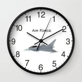 Eurofighter Typhoon Jet Fighter Wall Clock