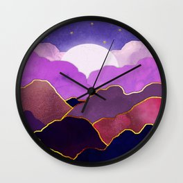 Abstract Dreamy mountains Wall Clock