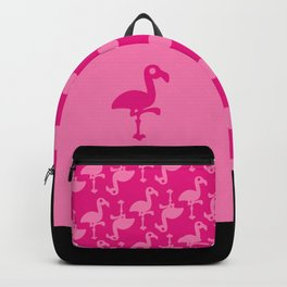Pink Simple Flamingo Backpack