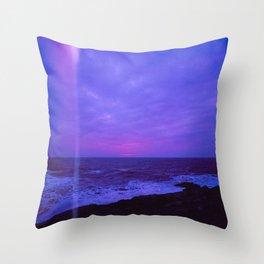 Dusk Light Leak Throw Pillow