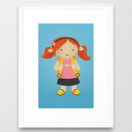 Ms. Pickle goes to School Framed Art Print