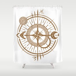 The Traveling Spell - Light Side Shower Curtain