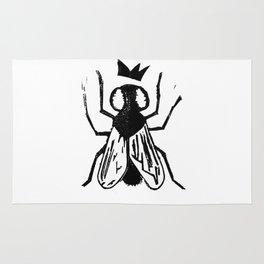 Fly Linocut Rug