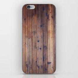 Dark Brown Wood iPhone Skin
