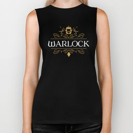 DnD Warlock Character Class Dungeons and Dragons Inspired Tabletop RPG Gaming Biker Tank