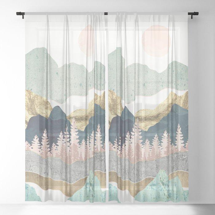 Summer Vista Sheer Curtain