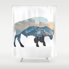 Bison Mountain Shower Curtain