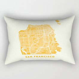 San Francisco City Map 03 Rectangular Pillow