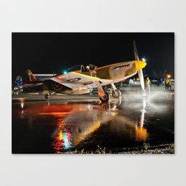 Mustang at Night Canvas Print