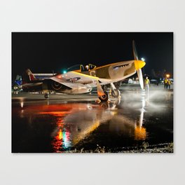 Mustang at Night Canvas Print