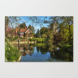 Backwater Goring on Thames Canvas Print