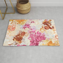 Spinning Roses Rug