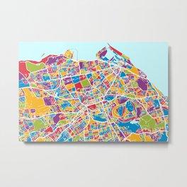 Edinburgh Street Map Metal Print